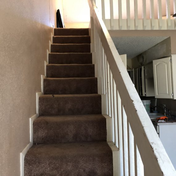 make ready, apartment staircase